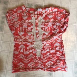 Banana Republic Orange Lace Embellished Blouse